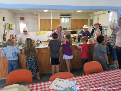 Treat time! Vacation Bible School 2019 at the Collbran Congregational Church in Collbran Colorado