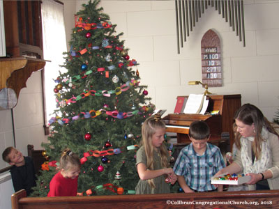 Decorating the Sanctuary, 2018 at the Collbran Congregational United Church of Christ