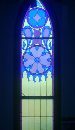 Stained Glass Window - Welcome to Collbran Congregational United Church of Christ
