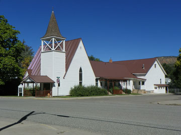 New Roof 2017 at the Collbran Congregational Church in Collbran Colorado